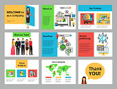 Infographic flyers, slides, banner and web design