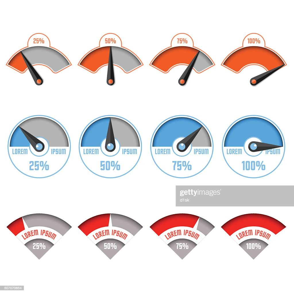 Infographic gauge chart elements