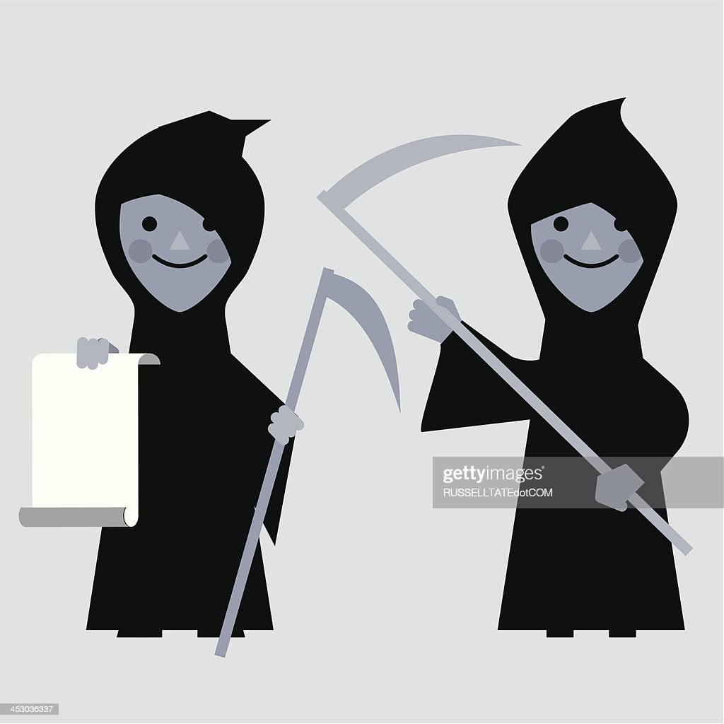 InfoGraphic Grim reapers : stock illustration