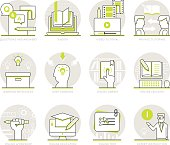 Infographic Icons Elements about Online Education