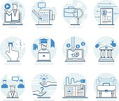 Infographic Icons Elements about Online Services