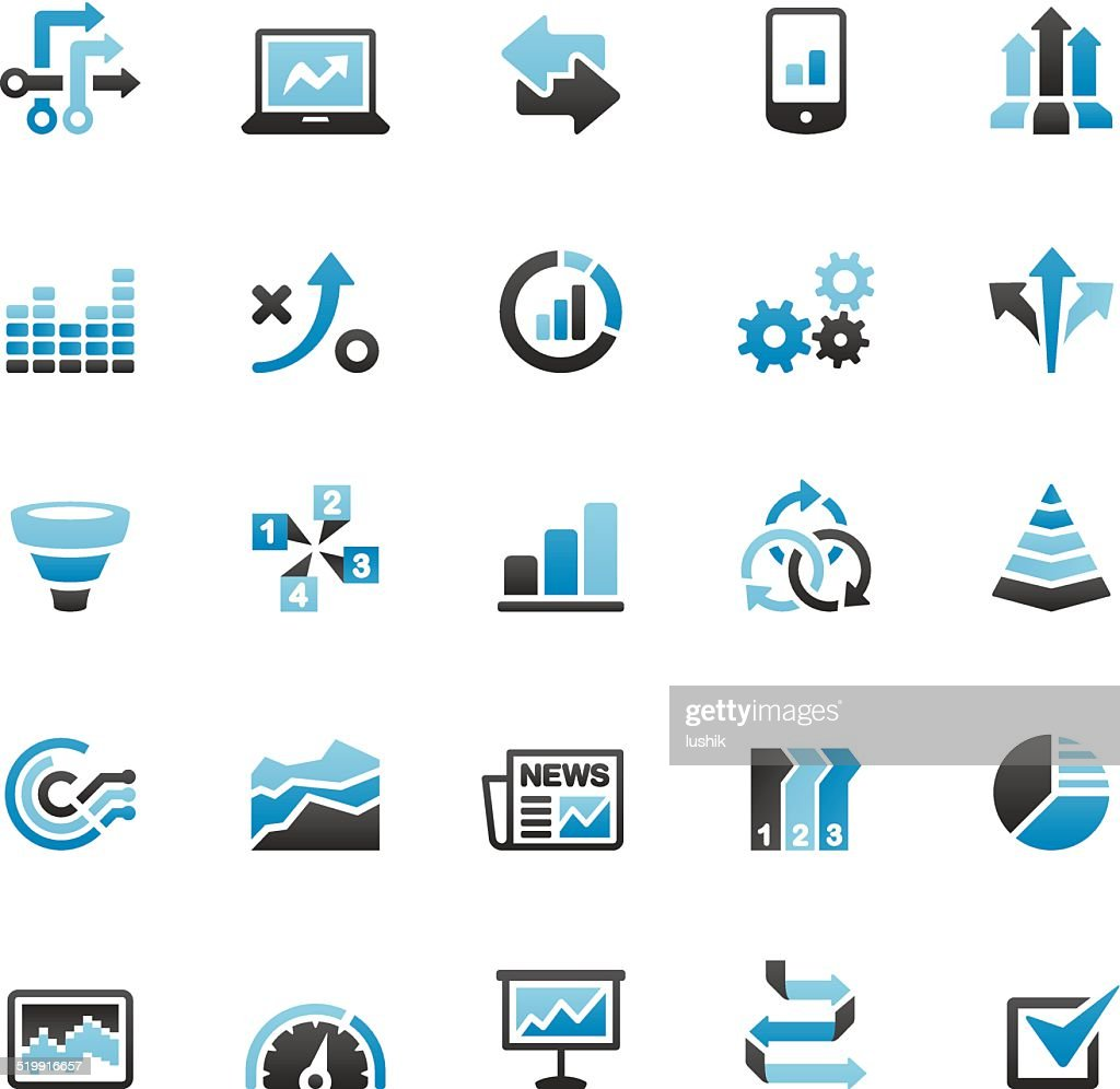 infographic icons set high-res vector graphic
