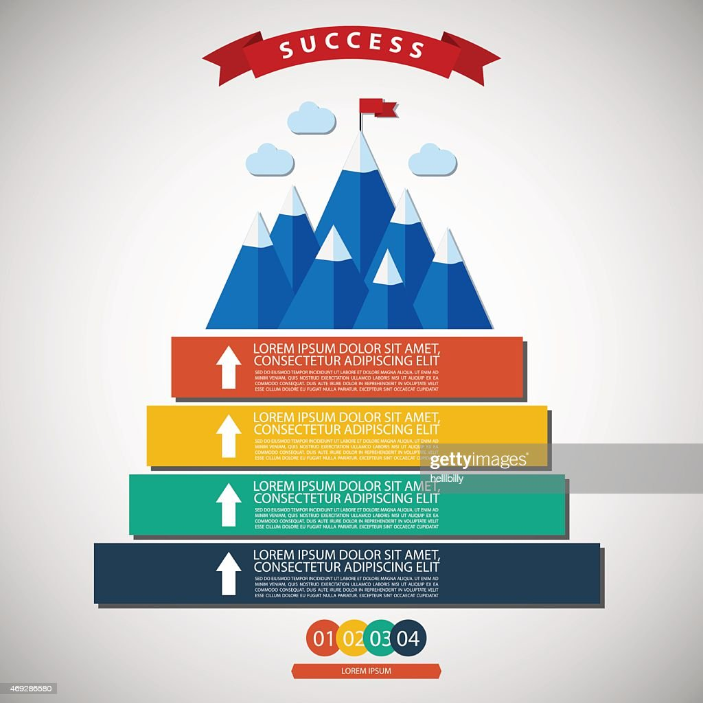 Infographic illustration of success