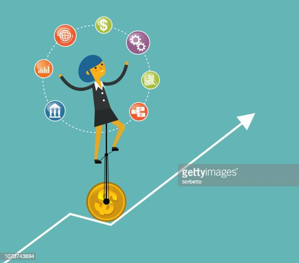 InfoGraphic Juggle - Businesswoman