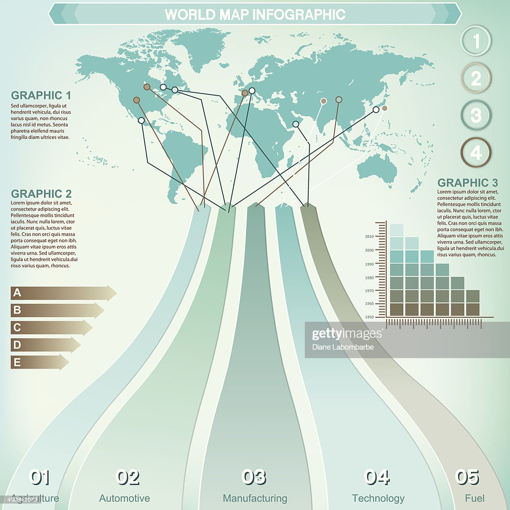 Infographic option tabs and world map vector art getty images infographic option tabs and world map vector art gumiabroncs Images