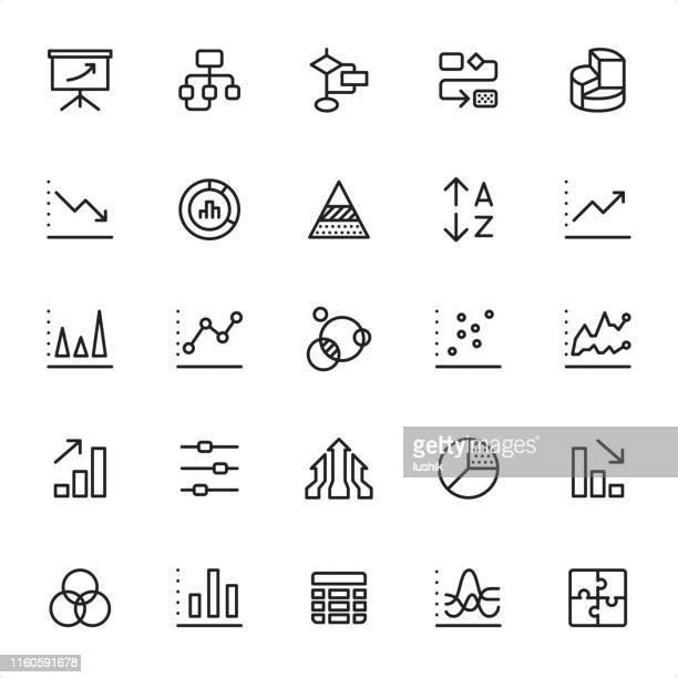 illustrazioni stock, clip art, cartoni animati e icone di tendenza di infografica - set di icone struttura - rapporto finanziario
