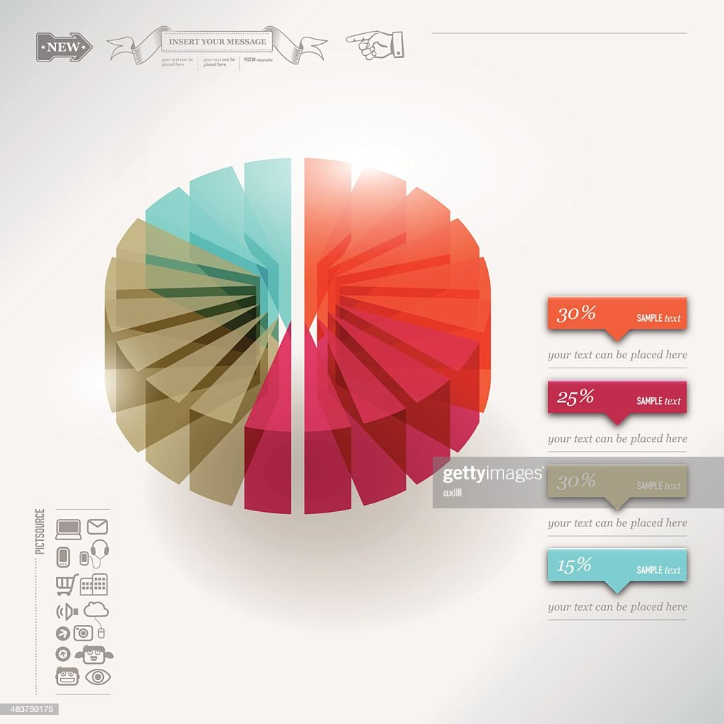 Infographic pie chart vector art getty images infographic pie chart vector art nvjuhfo Choice Image