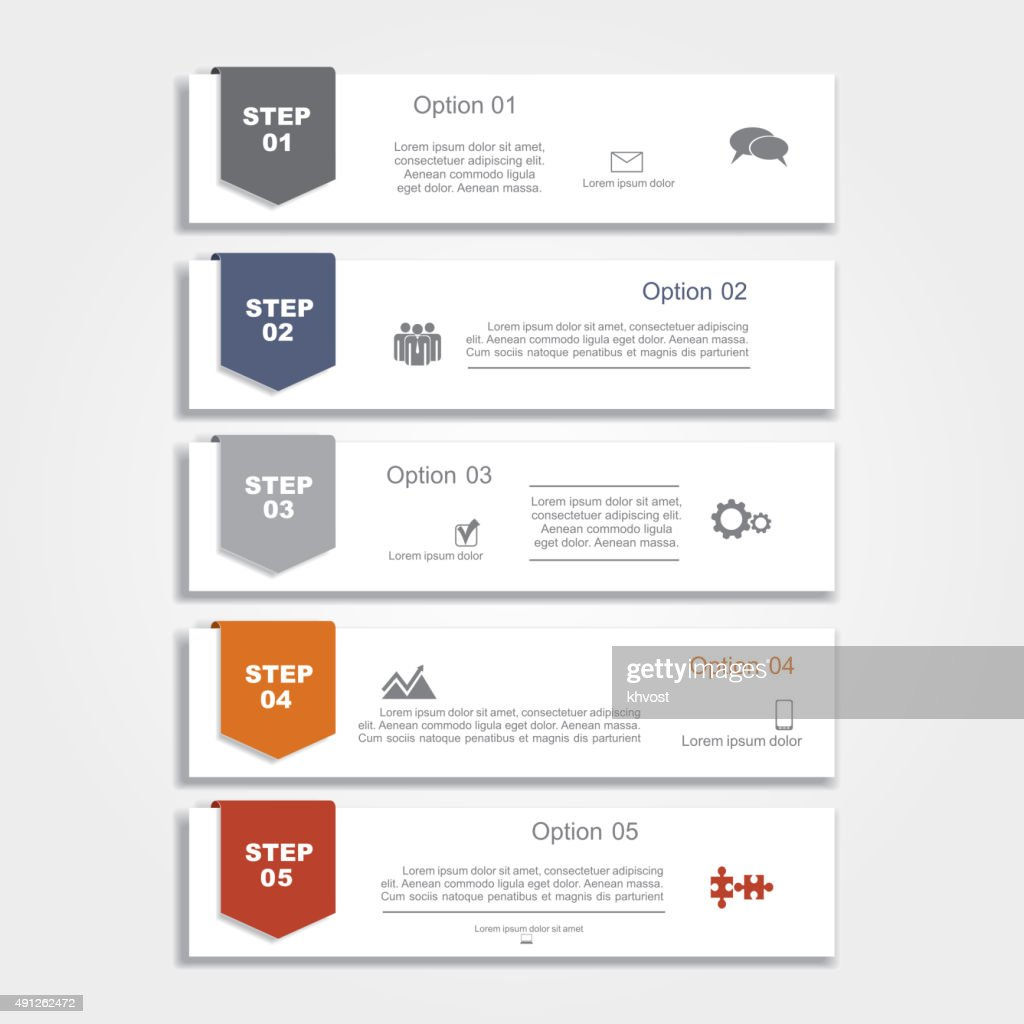 Infographic report template layout. Vector illustration