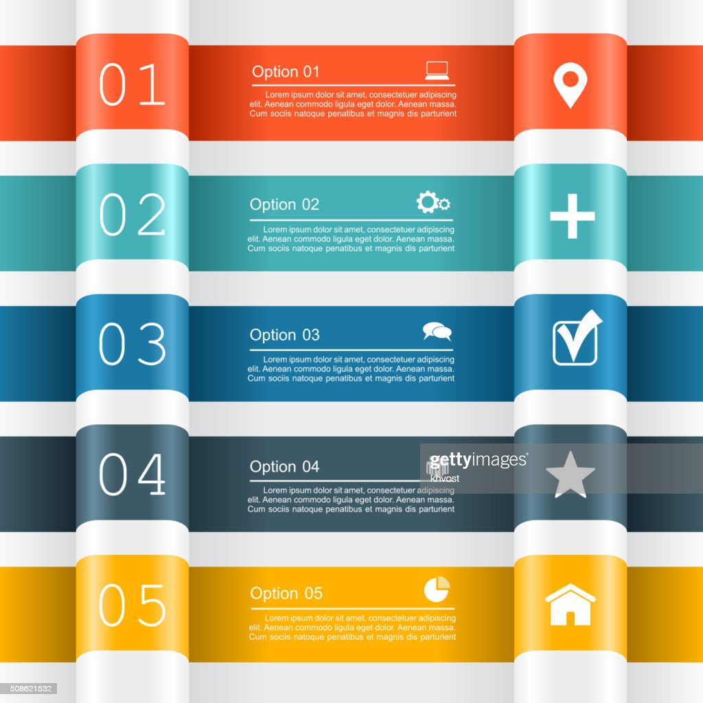 Infographic report template. Vector illustration : Vector Art