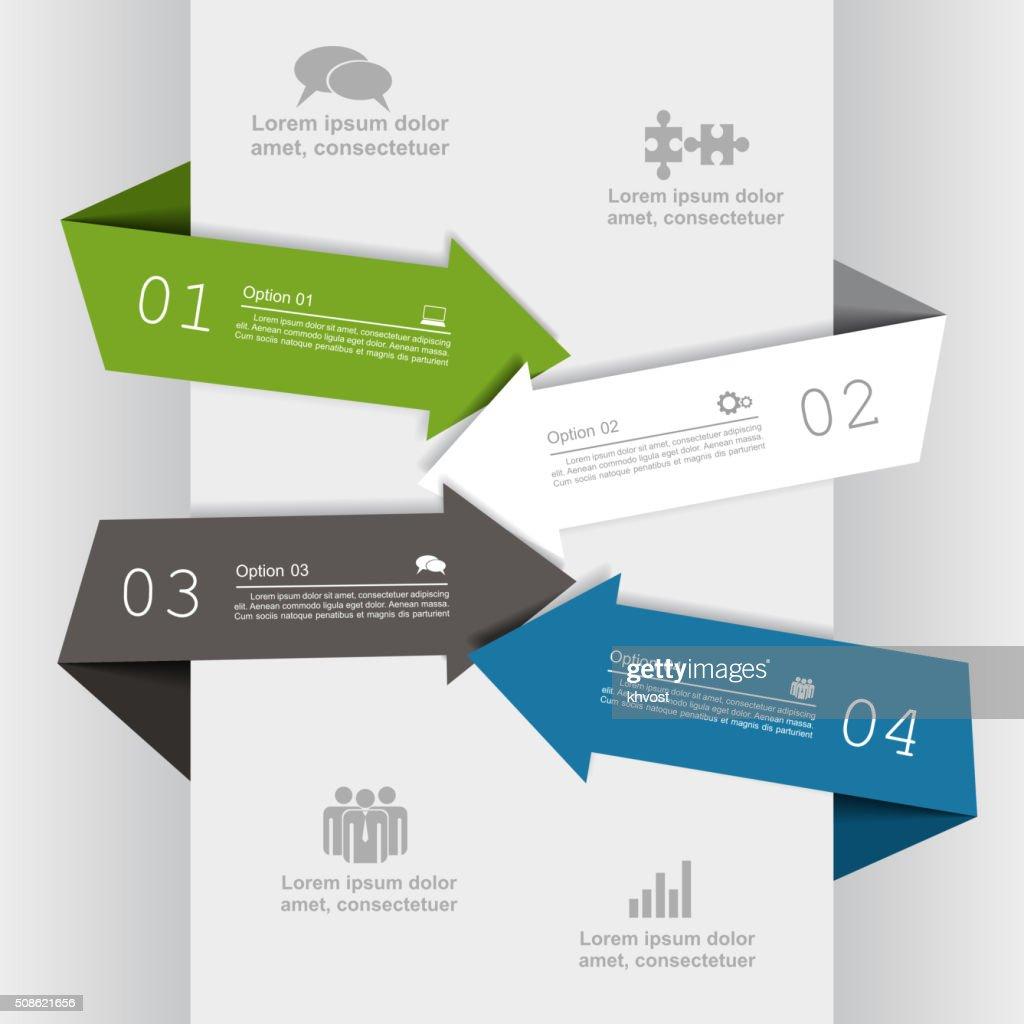 Infographic report template. Vector illustration : Vector Art