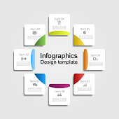 Infographic report template with place for data. Vector illustration.