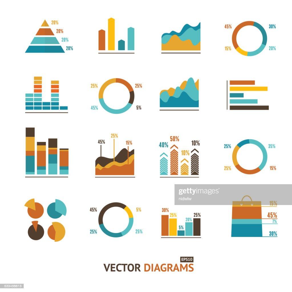 Infographic set elements, graph, diagrams.