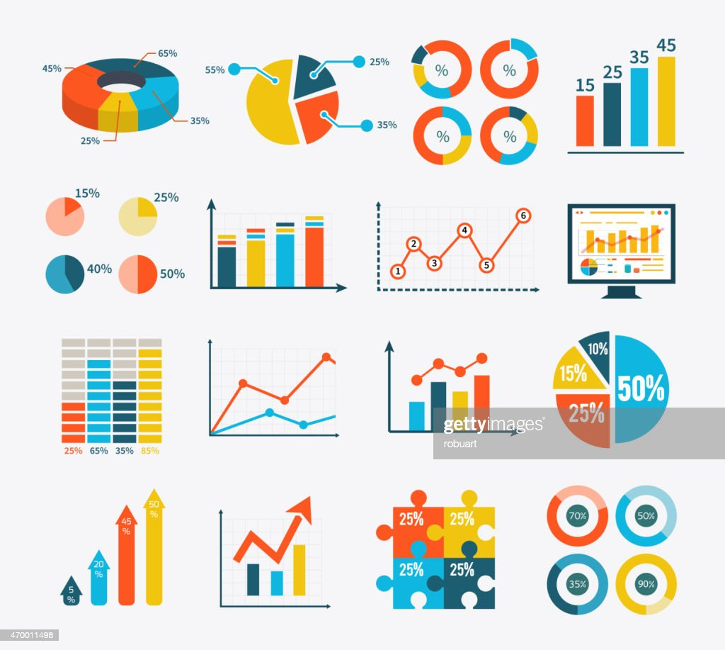 Infographic Set Graph and Charts, Diagrams