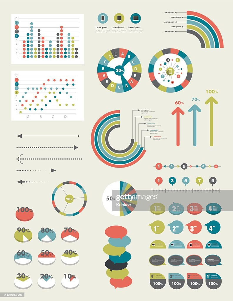 Infographic set of charts.