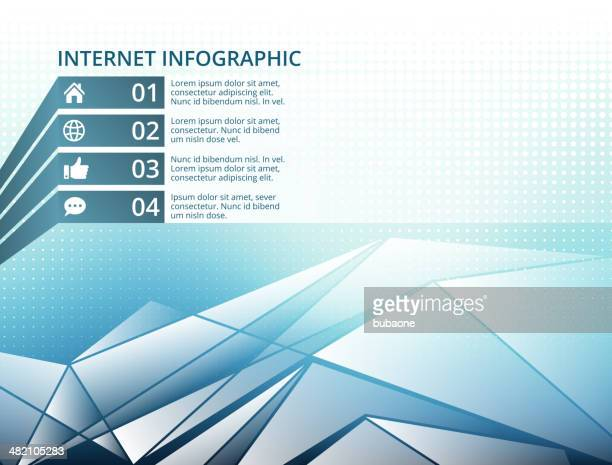 Infographic Social Media Diagram with Copyspace