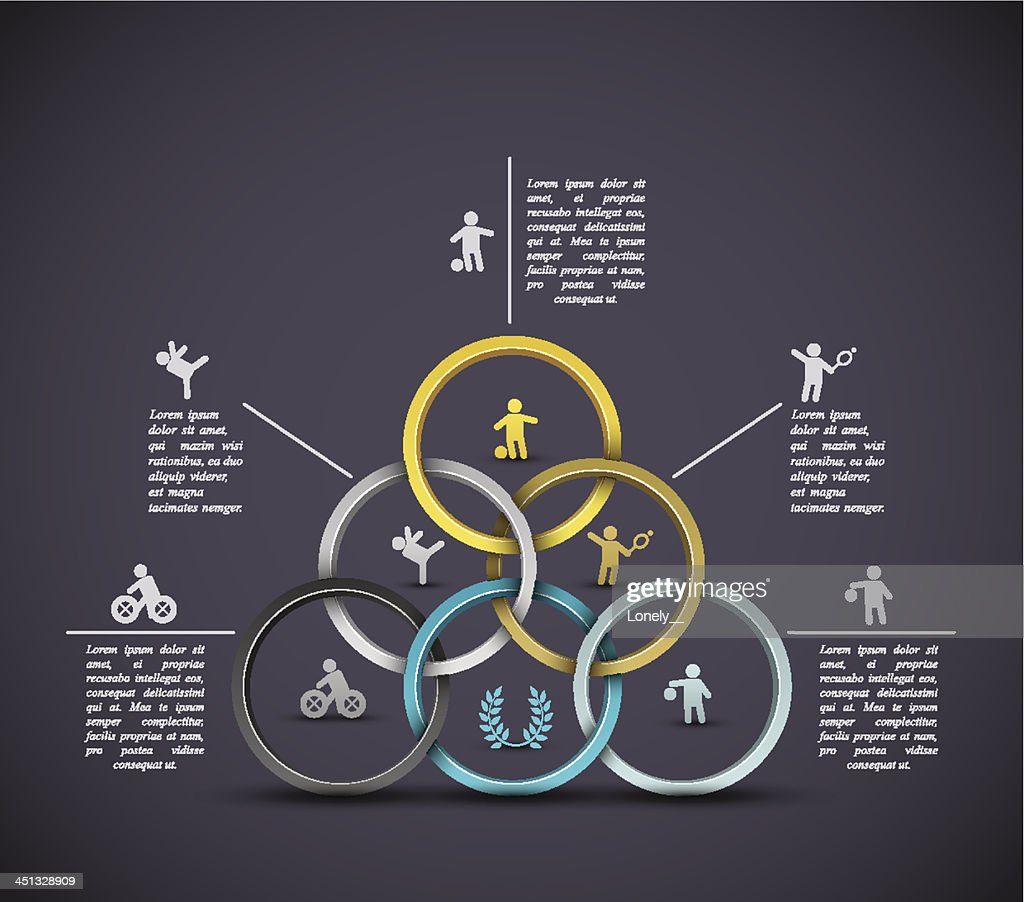 Infographic sport background