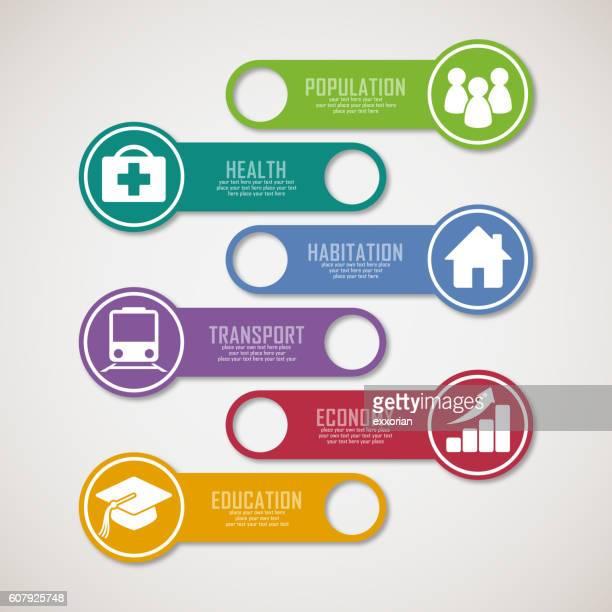 infographic tag - finanzen und wirtschaft stock illustrations