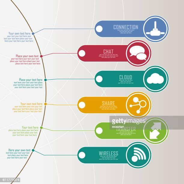 ilustrações, clipart, desenhos animados e ícones de infographic tag - labeling