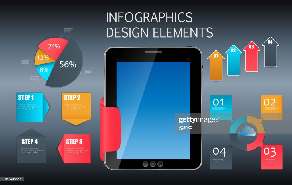 Infographic template business vector illustration : Vectorkunst