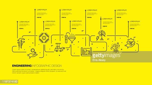 infografikvorlage - schieblehre stock-grafiken, -clipart, -cartoons und -symbole
