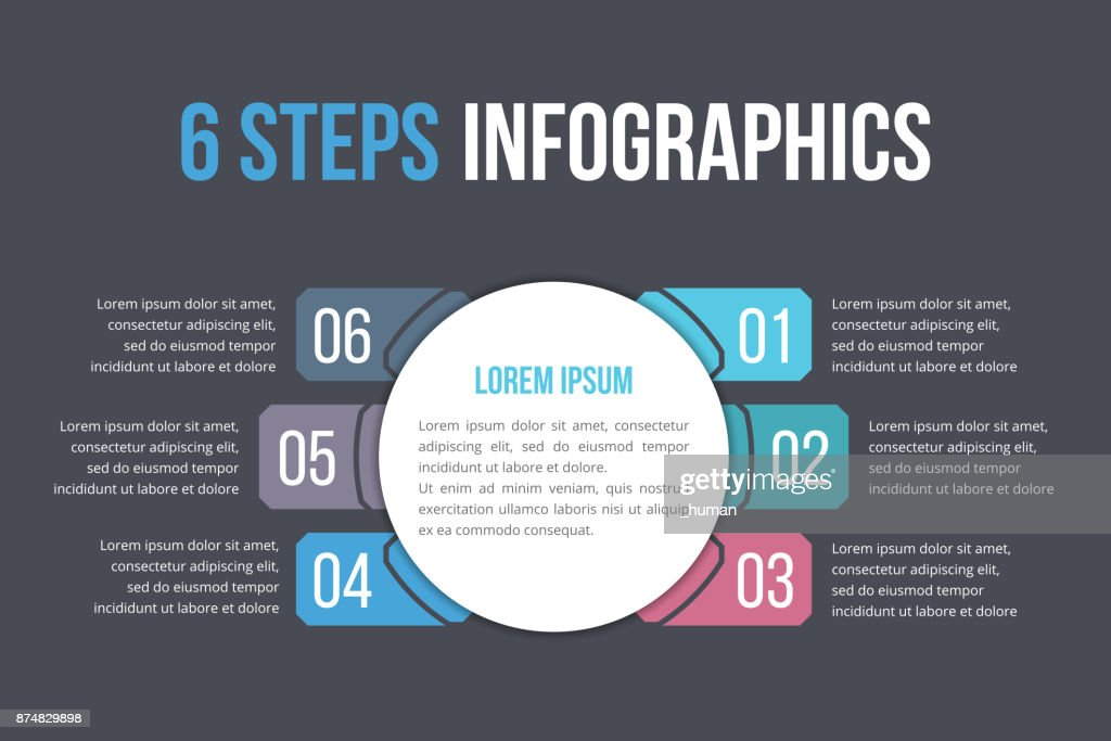 Infographic Template with Six Steps