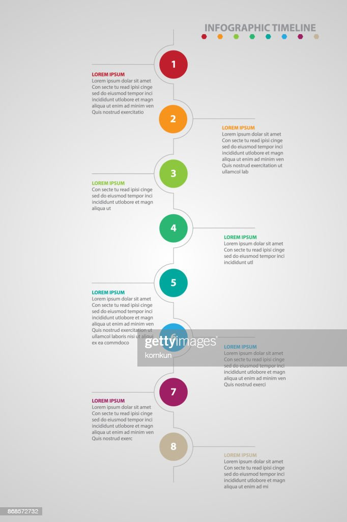 infographic timeline gray background vector