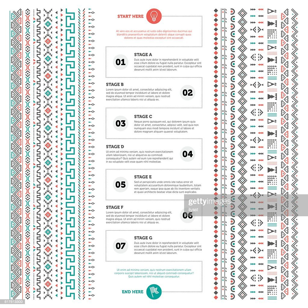 Infographic Tribal Pattern : stock illustration
