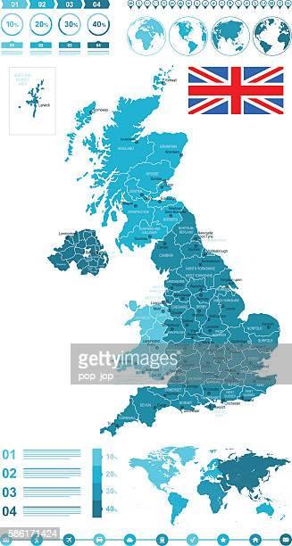 Infographic United Kingdom Map
