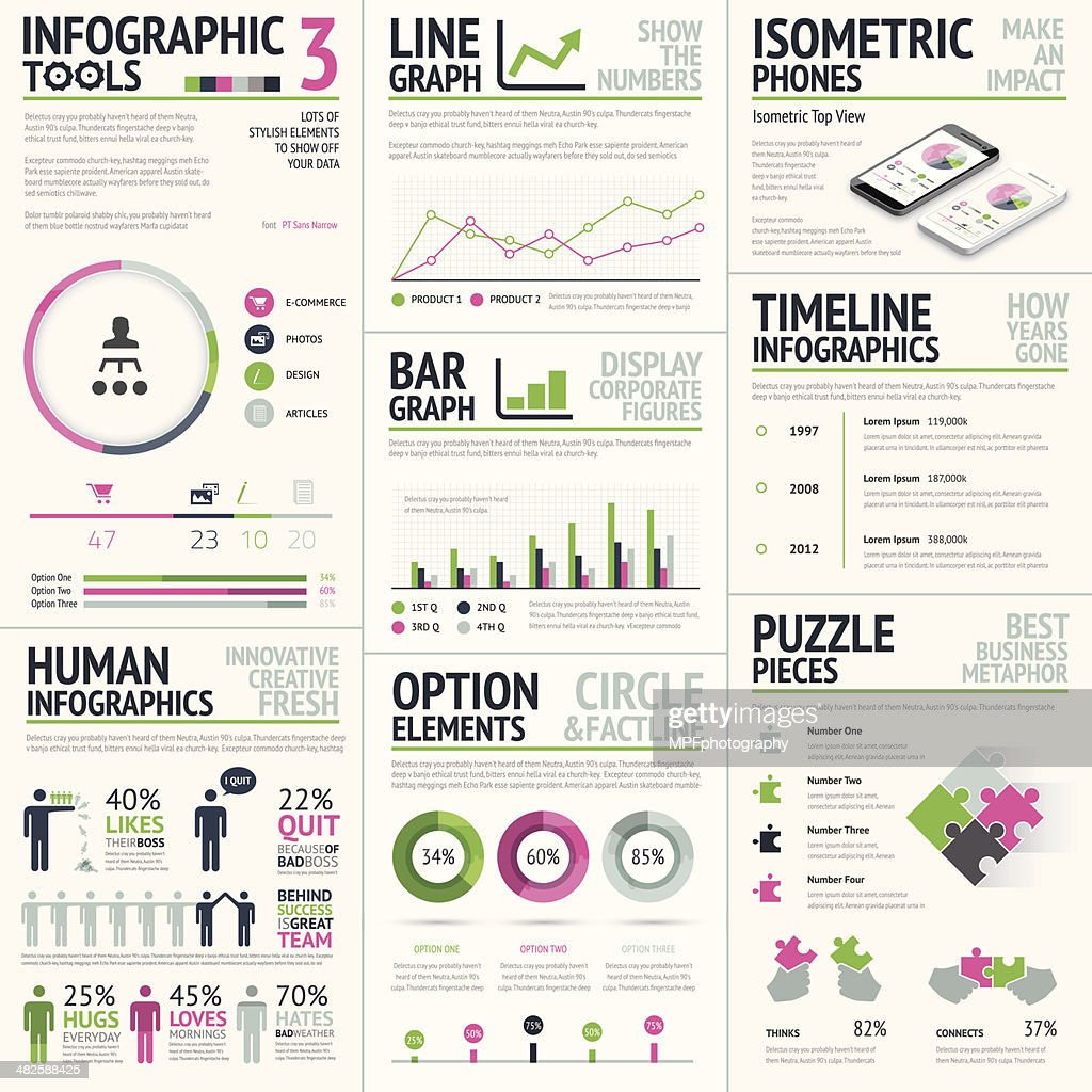 Infographic vector elements template
