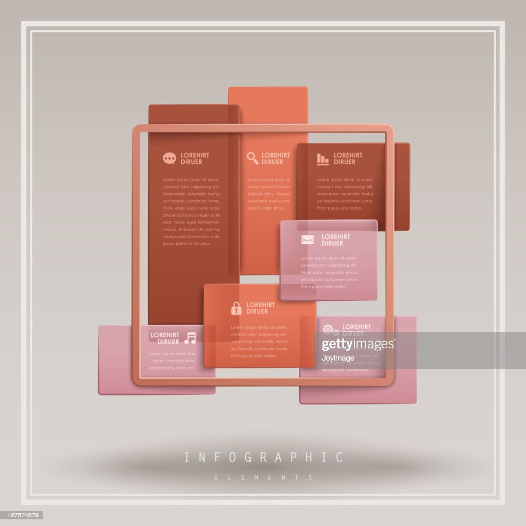 infographic vector elements with 3d rectangular style