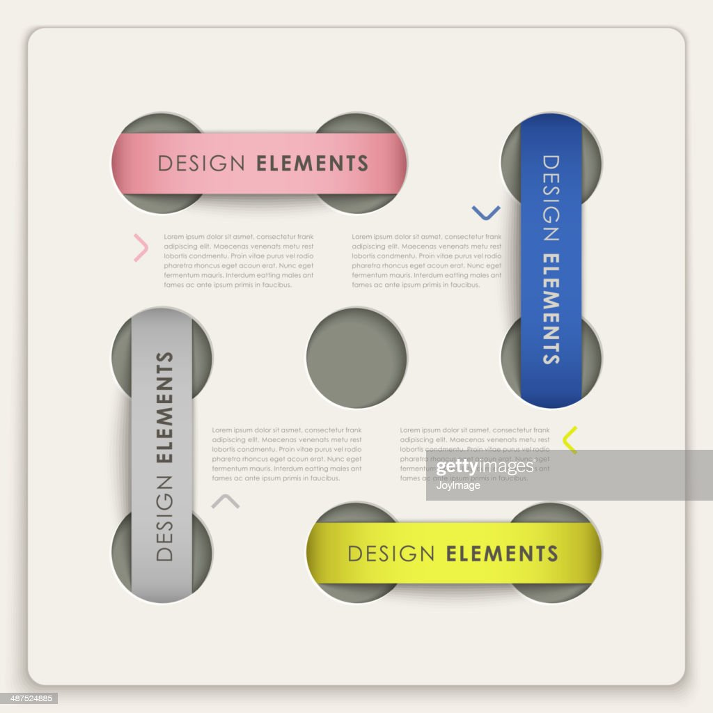 infographic vector elements with label style