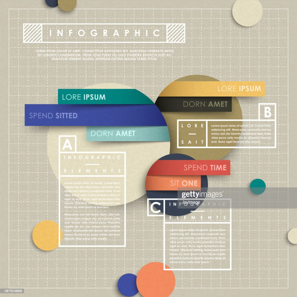 infographic vector elements with paper collage style