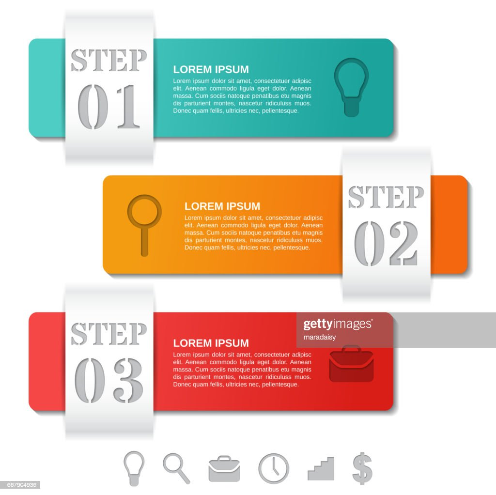 Infographics arrows templates 3 option, parts, steps. Business concept.