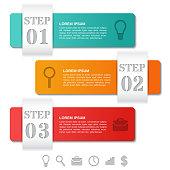 Infographics arrows templates 3 option, parts, steps. Business concept.
