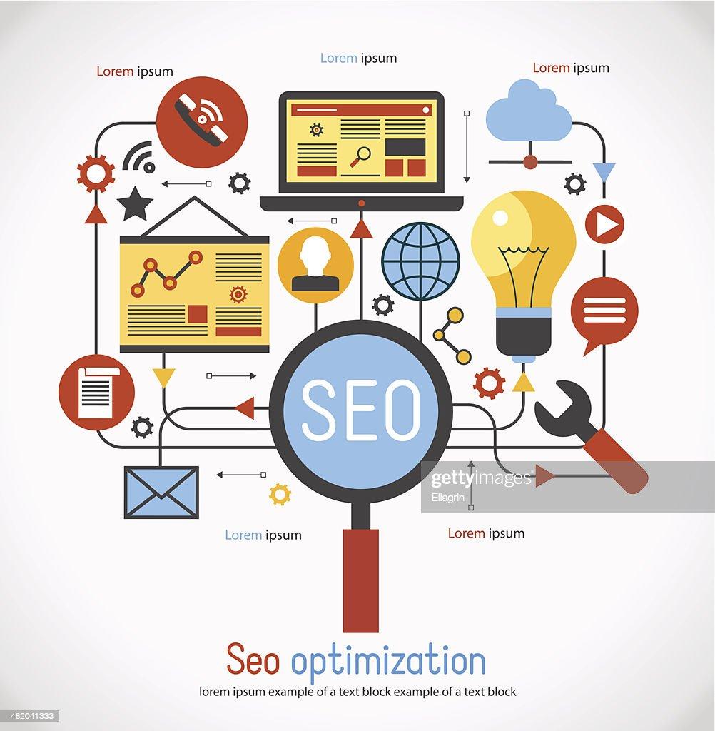 infographics background seo optimization