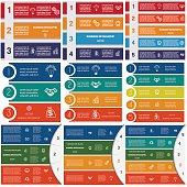 Infographics cyclic processes 3,4,5 options