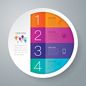 Infographics design vector and business icons with 4 options or steps.