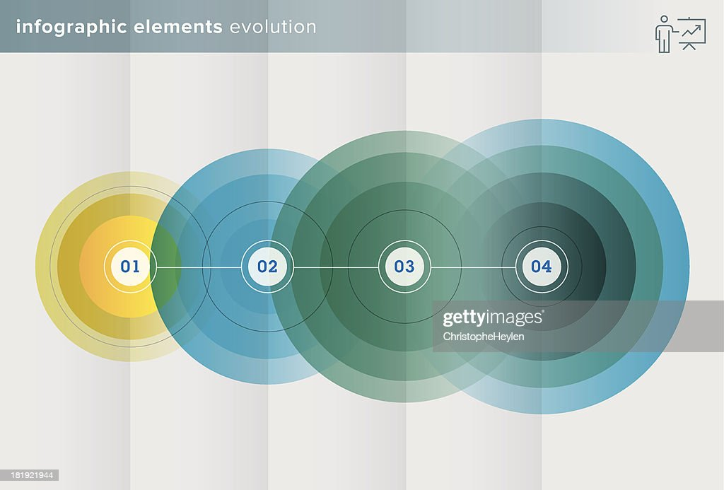 infographics elements – evolution series - Illustration