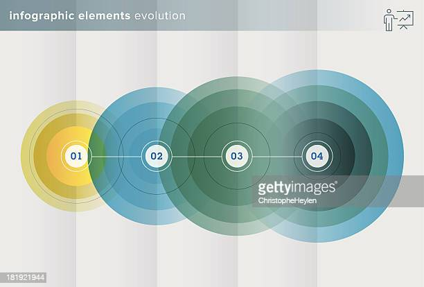 infographics elements – evolution series - illustration - growth stock illustrations
