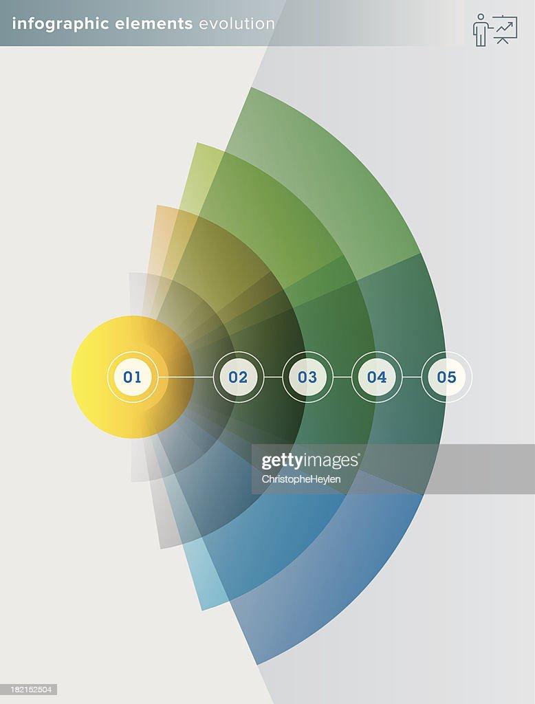 infographics elements – evolution series - Illustration
