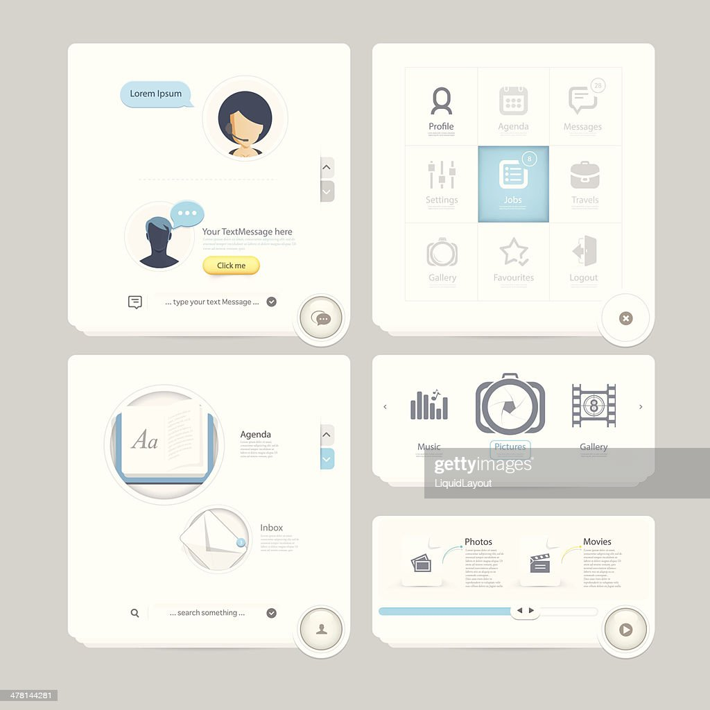 Infographics Elements for Web and mobile templates
