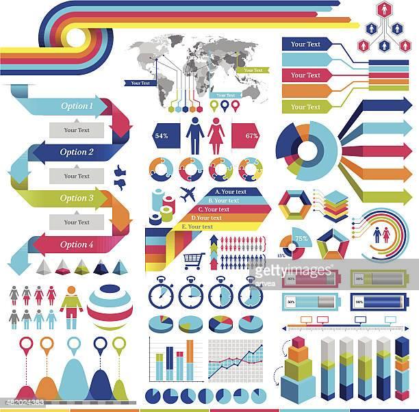 ilustraciones, imágenes clip art, dibujos animados e iconos de stock de elementos de infografía - edad humana