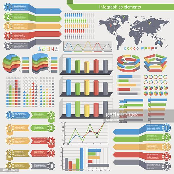 infographics elements - labeling stock illustrations, clip art, cartoons, & icons