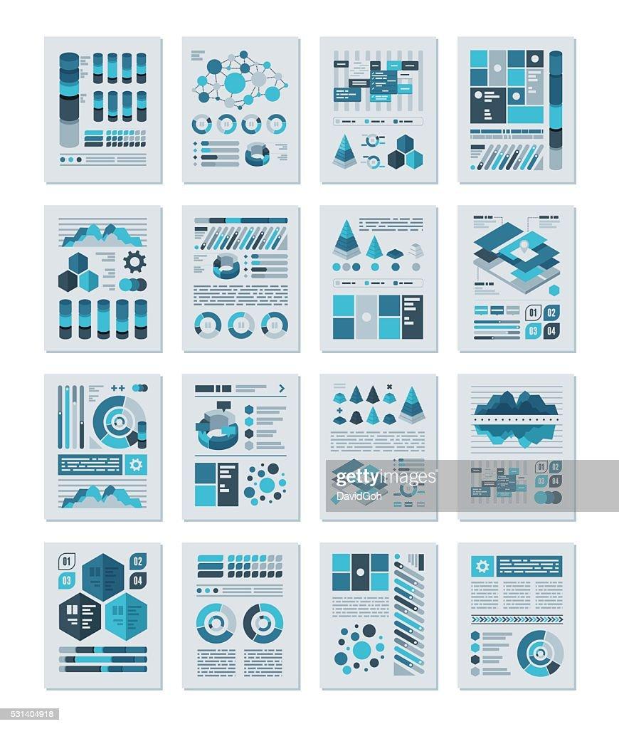 Infografiken flache Design : Stock-Illustration