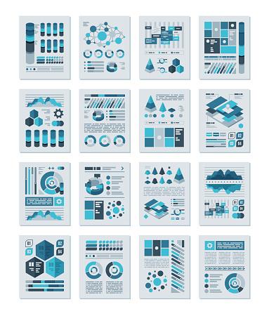 Infographics Flat Design Set - gettyimageskorea