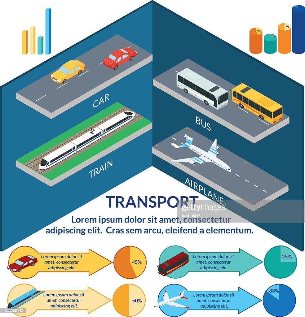infographics of urban passenger transport.