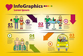Infographics on the topic of men and women