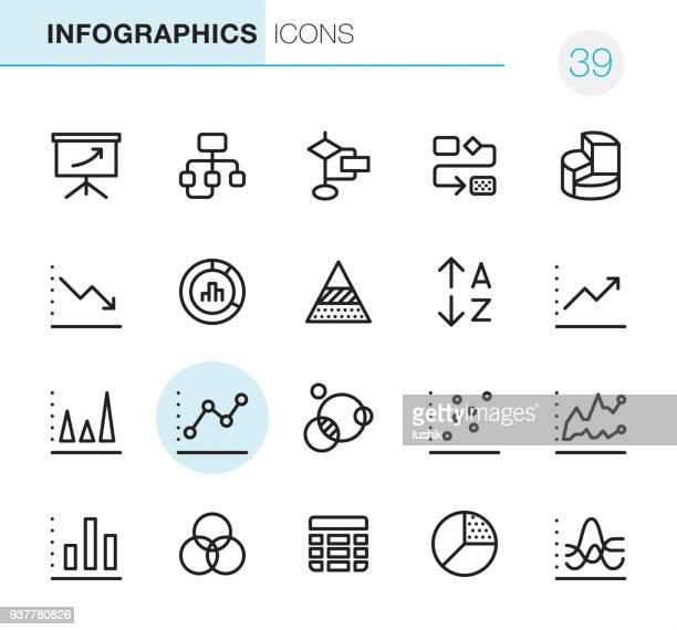 infographics - pixel perfect icons - diagram stock illustrations