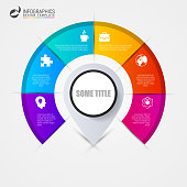 Infographics step by step with pointer. Business concept