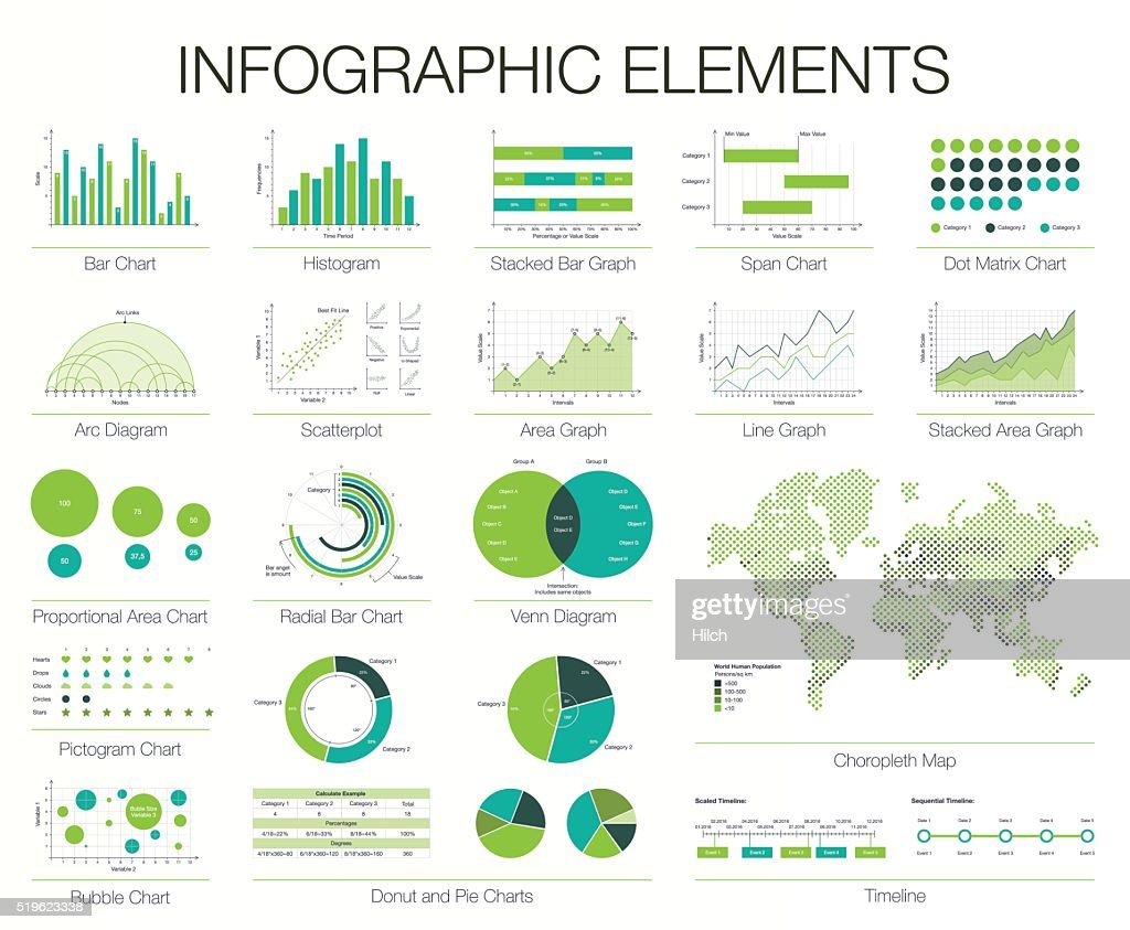 Infographics Template. Set of graphic design elements